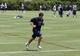 Jun 17, 2014; Dallas, TX, USA; Dallas Cowboys quarterback Tony Romo (9) runs during minicamp at Cowboys headquarters at Valley Ranch. Mandatory Credit: Matthew Emmons-USA TODAY Sports