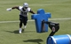 Jun 17, 2014; Dallas, TX, USA; Dallas Cowboys running back DeMarco Murray (29) runs drills on a blocking sled during minicamp at Cowboys headquarters at Valley Ranch. Mandatory Credit: Matthew Emmons-USA TODAY Sports