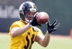 Jun 17, 2014; Pittsburgh, PA, USA; Pittsburgh Steelers linebacker Jordan Zumwalt (56) participates in drills during minicamp at the UPMC Sports Performance Complex. Mandatory Credit: Charles LeClaire-USA TODAY Sports