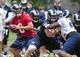 Jun 17, 2014; St. Louis, MO, USA; St. Louis Rams quarterback Sam Bradford (8) drops back to pass during minicamp at Rams Park. Mandatory Credit: Jeff Curry-USA TODAY Sports
