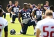Jun 17, 2014; Houston, TX, USA; Houston Texans running back Andre Brown (33) goes through drills during mini camp at Houston Methodist Training Center. Mandatory Credit: Andrew Richardson-USA TODAY Sports
