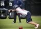 Jun 17, 2014; Houston, TX, USA; Houston Texans defensive end J.J. Watt (99) goes through drills during mini camp at Houston Methodist Training Center. Mandatory Credit: Andrew Richardson-USA TODAY Sports