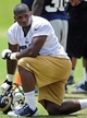 Jun 17, 2014; St. Louis, MO, USA; St. Louis Rams defensive end Michael Sam (96) looks on during minicamp at Rams Park. Mandatory Credit: Jeff Curry-USA TODAY Sports