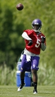 Jun 17, 2014; Eden Prairie, MN, USA; Minnesota Vikings quarterback Teddy Bridgewater (5) throws in drills at Winter Park. Mandatory Credit: Bruce Kluckhohn-USA TODAY Sports