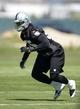 Jun 17, 2014; Alameda, CA, USA; Oakland Raiders linebacker Sio Moore (55) at minicamp at Raiders Practice Facility. Mandatory Credit: Kirby Lee-USA TODAY Sports