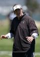 Jun 17, 2014; Alameda, CA, USA; Oakland Raiders linebackers coach Bob Sanders at minicamp at Raiders Practice Facility. Mandatory Credit: Kirby Lee-USA TODAY Sports