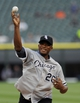Jun 17, 2014; Chicago, IL, USA; Chicago White Sox former pitcher Orlando Hernandez threw out the first pitch before the game against the San Francisco Giants at U.S Cellular Field. Mandatory Credit: Matt Marton-USA TODAY Sports