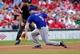 Jun 17, 2014; St. Louis, MO, USA; New York Mets third baseman David Wright (5) fields a ground ball hit by St. Louis Cardinals center fielder Peter Bourjos (not pictured) during the first inning at Busch Stadium. Mandatory Credit: Jeff Curry-USA TODAY Sports