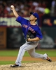Jun 17, 2014; St. Louis, MO, USA; New York Mets relief pitcher Daisuke Matsuzaka (16) throws to a St. Louis Cardinals batter during the seventh inning at Busch Stadium. The Cardinals defeated the Mets 5-2. Mandatory Credit: Jeff Curry-USA TODAY Sports