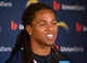 Jun 18, 2014; San Diego, CA, USA; San Diego Chargers cornerback Jason Verrett (22) at minicamp press conference at Chargers Park. Mandatory Credit: Kirby Lee-USA TODAY Sports