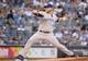 Jun 18, 2014; Bronx, NY, USA; Toronto Blue Jays starting pitcher Mark Buehrle (56) pitches in the 1st at Yankee Stadium. Mandatory Credit: Robert Deutsch-USA TODAY Sports