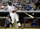 Jun 18, 2014; Bronx, NY, USA; New York Yankees batter Alfonso Soriano breaks his bat in the 3rd inning against the Toronto Blue Jays during the MLB baseball game at Yankee Stadium. Mandatory Credit: Robert Deutsch-USA TODAY Sports