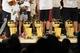 Jun 18, 2014; San Antonio, TX, USA; San Antonio Spurs championship trophies are displayed during NBA championship celebrations at Alamodome. Mandatory Credit: Soobum Im-USA TODAY Sports