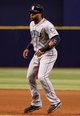 Jun 6, 2014; St. Petersburg, FL, USA; Seattle Mariners second baseman Robinson Cano (22) on base against the Tampa Bay Rays at Tropicana Field. Tampa Bay Rays defeated the Seattle Mariners 4-0. Mandatory Credit: Kim Klement-USA TODAY Sports
