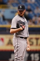 Jun 8, 2014; St. Petersburg, FL, USA; Seattle Mariners relief pitcher Charlie Furbush (41) against the Tampa Bay Rays at Tropicana Field. Seattle Mariners defeated the Tampa Bay Rays 5-0. Mandatory Credit: Kim Klement-USA TODAY Sports