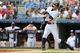 Jun 22, 2014; Bronx, NY, USA;  New York Yankees right fielder Ichiro Suzuki (31) singles to center during the third inning against the Baltimore Orioles at Yankee Stadium. Mandatory Credit: Anthony Gruppuso-USA TODAY Sports