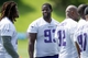 Jun 17, 2014; Eden Prairie, MN, USA; Minnesota Vikings defensive tackle Shamar Stephen (93) talks with a teammate at practice at Winter Park. Mandatory Credit: Bruce Kluckhohn-USA TODAY Sports