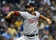 Jun 23, 2014; Milwaukee, WI, USA;  Washington Nationals pitcher Gio Gonzalez (47) pitches in the first inning against the Milwaukee Brewers at Miller Park. Mandatory Credit: Benny Sieu-USA TODAY Sports