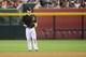 Jun 21, 2014; Phoenix, AZ, USA; Arizona Diamondbacks second baseman Aaron Hill (2) defends against the San Francisco Giants at Chase Field. The Giants won 6-4. Mandatory Credit: Joe Camporeale-USA TODAY Sports