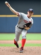 Jun 25, 2014; Milwaukee, WI, USA;  Washington Nationals pitcher Stephen Strasburg (37) pitches in the first inning against the Milwaukee Brewers at Miller Park. Mandatory Credit: Benny Sieu-USA TODAY Sports