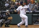 Jun 25, 2014; Houston, TX, USA; Houston Astros first baseman Jon Singleton (28) hits a double during the fourth inning against the Atlanta Braves at Minute Maid Park. Mandatory Credit: Troy Taormina-USA TODAY Sports