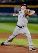 Sep 24, 2013; Atlanta, GA, USA; Milwaukee Brewers starting pitcher Tyler Thornburg (63) pitches against the Atlanta Braves during the first inning at Turner Field. Mandatory Credit: Dale Zanine-USA TODAY Sports