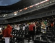 Jun 30, 2014; Chicago, IL, USA; People are told to leave their seats because of severe weather at U.S Cellular Field. The game was cancelled between the Chicago White Sox and the Los Angeles Angels. Mandatory Credit: David Banks-USA TODAY Sports