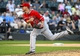 Jul 1, 2014; Chicago, IL, USA; Los Angeles Angels relief pitcher Joe Smith (38) throws a pitch against the Chicago White Sox during the ninth inning at U.S Cellular Field. Los Angeles Angels defeat the Chicago White Sox 8-4. Mandatory Credit: Mike DiNovo-USA TODAY Sports