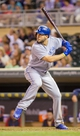 Jun 30, 2014; Minneapolis, MN, USA; Kansas City Royals first baseman Eric Hosmer (35) at bat against the Minnesota Twins at Target Field. Mandatory Credit: Brad Rempel-USA TODAY Sports