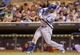 Jun 30, 2014; Minneapolis, MN, USA; Kansas City Royals left fielder Alex Gordon (4) at bat against the Minnesota Twins at Target Field. Mandatory Credit: Brad Rempel-USA TODAY Sports