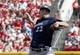 Jul 5, 2014; Cincinnati, OH, USA; Milwaukee Brewers starting pitcher Matt Garza throws against the Cincinnati Reds during the first inning at Great American Ball Park. Mandatory Credit: David Kohl-USA TODAY Sports