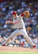 Jul 5, 2014; Pittsburgh, PA, USA; Philadelphia Phillies starting pitcher David Buchanan (55) delivers a pitch against the Pittsburgh Pirates during the third inning at PNC Park. Mandatory Credit: Charles LeClaire-USA TODAY Sports