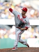 Jul 5, 2014; Pittsburgh, PA, USA; Philadelphia Phillies relief pitcher Ken Giles (53) pitches against the Pittsburgh Pirates during the eighth inning at PNC Park. The Pirates won 3-2. Mandatory Credit: Charles LeClaire-USA TODAY Sports