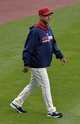 Jul 5, 2014; Cleveland, OH, USA; Cleveland Indians manager Terry Francona (17) walks on the field in the third inning against the Kansas City Royals at Progressive Field. Mandatory Credit: David Richard-USA TODAY Sports