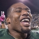 Oct 19, 2013; Waco, TX, USA; Baylor Bears defensive end Shawn Oakman (2) celebrates the win over the Iowa State Cyclones at Floyd Casey Stadium. The Bears defeated the Cyclones 71-7. Mandatory Credit: Jerome Miron-USA TODAY Sports
