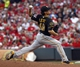 Jul 11, 2014; Cincinnati, OH, USA; Pittsburgh Pirates starting pitcher Jeff Locke throws against the Cincinnati Reds in the fourth inning at Great American Ball Park. Mandatory Credit: David Kohl-USA TODAY Sports