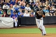 Jul 11, 2014; New York, NY, USA; Miami Marlins shortstop Adeiny Hechavarria (3) throws during the eighth inning against the New York Mets at Citi Field. Mandatory Credit: Anthony Gruppuso-USA TODAY Sports