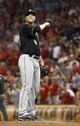 Jul 11, 2014; Cincinnati, OH, USA; Pittsburgh Pirates relief pitcher Tony Watson stands on the mound in the eighth inning during a game against the Cincinnati Reds at Great American Ball Park. The Reds won 6-5. Mandatory Credit: David Kohl-USA TODAY Sports