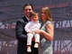 Jul 17, 2014; San Francisco, CA, USA; San Francisco 49ers CEO Jed York with his wife Danielle and son Jaxon after the ribbon cutting ceremony at Levi's Stadium. Mandatory Credit: Kelley L Cox-USA TODAY Sports