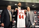 Jul 18, 2014; Chicago, IL, USA;  Chicago Bulls head coach Tom Thibodeau (left), new player Nikola Mirotic (middle) and general manager Gar Forman pose for a photo after a press conference at the United Center. Mandatory Credit: David Banks-USA TODAY Sports
