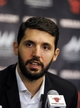 Jul 18, 2014; Chicago, IL, USA; New Chicago Bulls player Nikola Mirotic during a press conference at the United Center. Mandatory Credit: David Banks-USA TODAY Sports