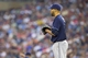 Jul 19, 2014; Minneapolis, MN, USA; Tampa Bay Rays starting pitcher David Price (14) looks on during the sixth inning against the Minnesota Twins at Target Field. Mandatory Credit: Jesse Johnson-USA TODAY Sports