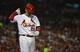Jul 22, 2014; St. Louis, MO, USA; St. Louis Cardinals right fielder Allen Craig (21) walks back to the dugout after striking out during the eighth inning against the Tampa Bay Rays at Busch Stadium. The Rays defeated the Cardinals 7-2. Mandatory Credit: Jeff Curry-USA TODAY Sports