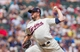 Jul 23, 2014; Minneapolis, MN, USA; Minnesota Twins relief pitcher Glen Perkins (15) pitches in the ninth inning against the Cleveland Indians at Target Field. The Minnesota Twins win 3-1. Mandatory Credit: Brad Rempel-USA TODAY Sports