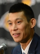 Jul 24, 2014; El Segundo, CA, USA; Los Angeles Lakers Jeremy Lin speaks to the media during a press conference at Toyota Sports Center. Mandatory Credit: Jayne Kamin-Oncea-USA TODAY Sports