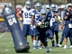 Jul 24, 2014; Oxnard, CA, USA; Dallas Cowboys defensive tackle Davon Coleman (60) runs through drills on the first day of training camp at the River Ridge Playing Fields.  Mandatory Credit: Jayne Kamin-Oncea-USA TODAY Sports