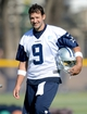 Jul 24, 2014; Oxnard, CA, USA; Dallas Cowboys quarterback Tony Romo (9) during training camp at the River Ridge Playing Fields.  Mandatory Credit: Jayne Kamin-Oncea-USA TODAY Sports