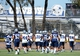 Jul 24, 2014; Oxnard, CA, USA; Dallas Cowboys players run through drills during training camp at the River Ridge Playing Fields.  Mandatory Credit: Jayne Kamin-Oncea-USA TODAY Sports