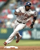 May 19, 2014; Anaheim, CA, USA; Houston Astros center fielder Dexter Fowler (21) rounds second base off of a single by catcher during the first inning against the Los Angeles Angels at Angel Stadium of Anaheim. Mandatory Credit: Kelvin Kuo-USA TODAY Sports