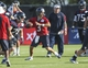 Jul 26, 2014; Houston, TX, USA; Houston Texans quarterback Tom Savage (3) throws a pass during training camp at Houston Methodist Training Center. Mandatory Credit: Troy Taormina-USA TODAY Sports